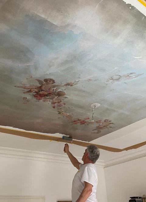 Individuelle Gestaltung einer Zimmerdecke Maler Lehner Stuttgart West